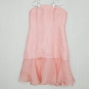 Donna Morgan Organza Strapless Dress, EUC